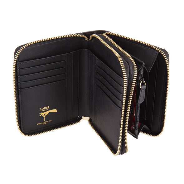 Laguna RFID Laney Continental Double Zip Wallet- Sale Colors
