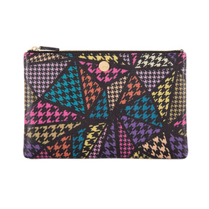 Houndstooth RFID Flat pouch