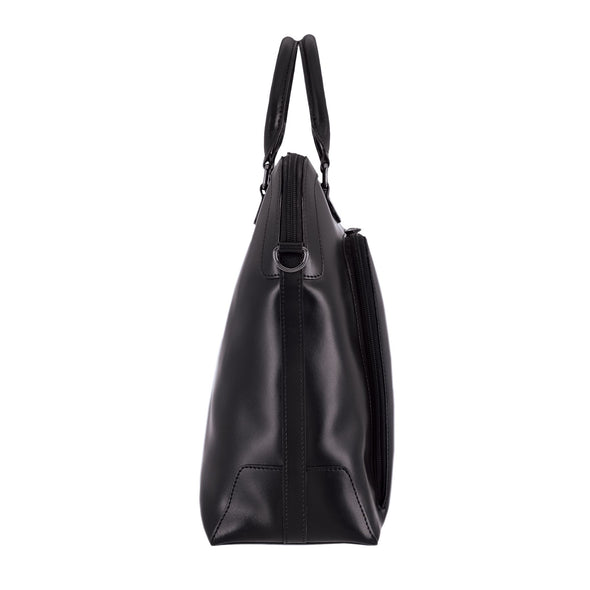 Audrey RFID Brera Briefcase in Black/Black