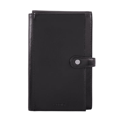 Audrey RFID New Passport Wallet in Black/Black