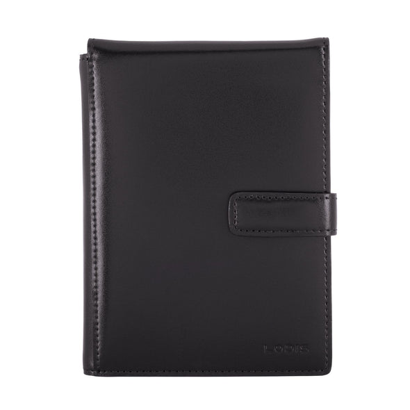 Audrey RFID Passport Wallet With Ticket Flap in Black/Black