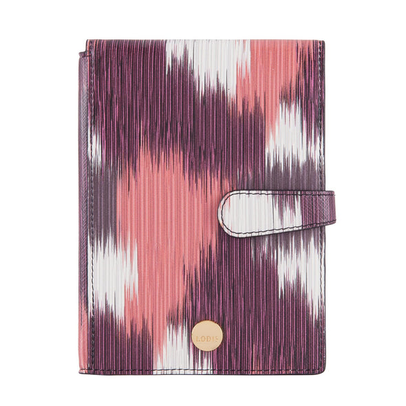 Boho RFID Passport Wallet With Ticket Flap