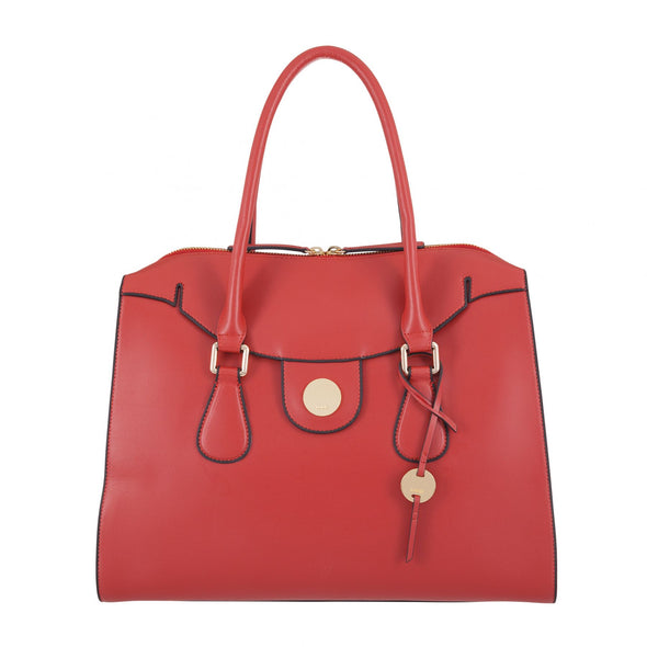 Rodeo RFID Gwyneth Zip Top Tote in Brick