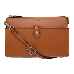 Audrey RFID Vicky Convertible Crossbody Clutch in Toffee