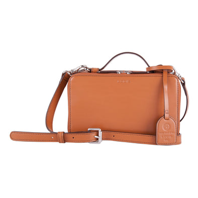 Audrey RFID Sally Zip Around Crossbody in Toffee
