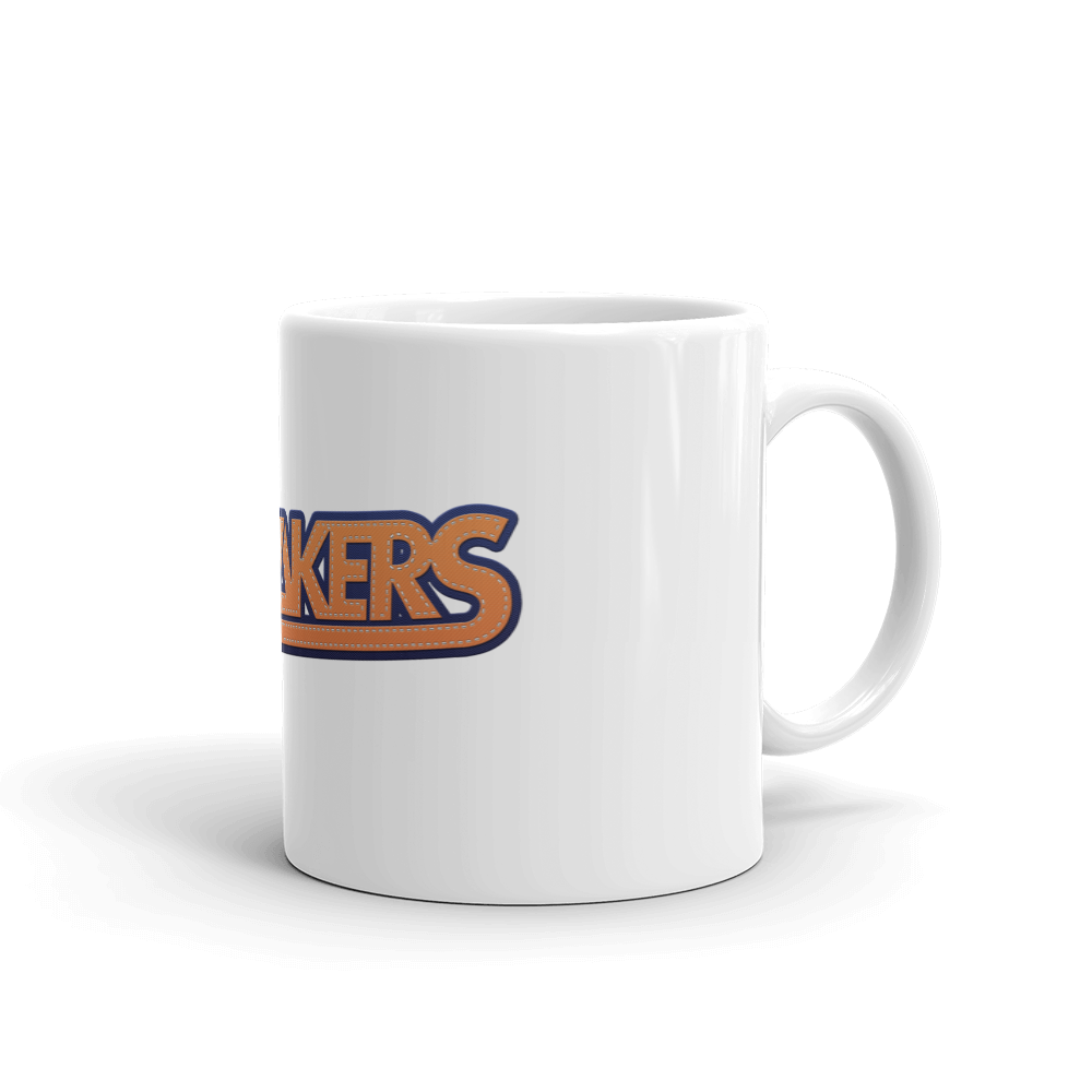 Mug blanc brillant avec logo The Sneakers