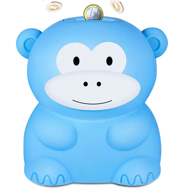 Blue Monkey Coin Bank