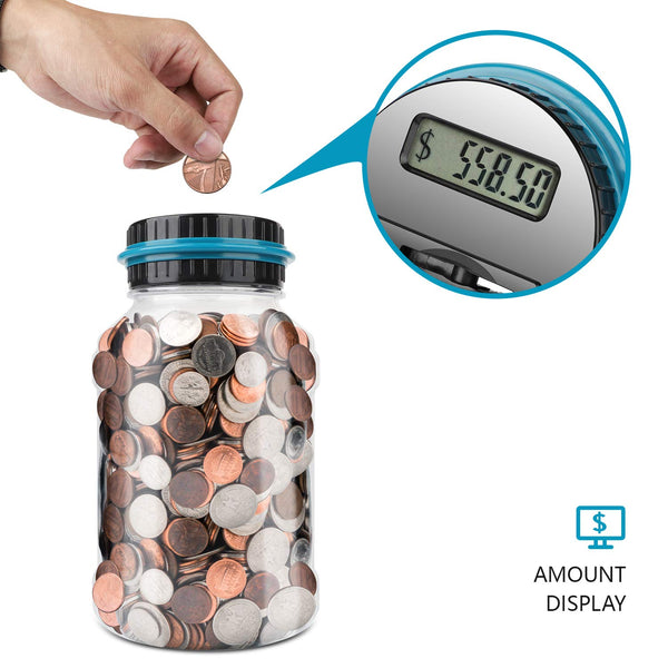 Digital Counting Money Jar