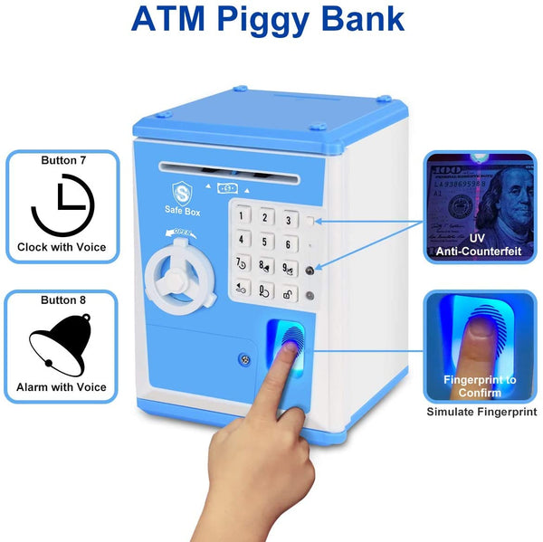 Blue ATM Saving Box