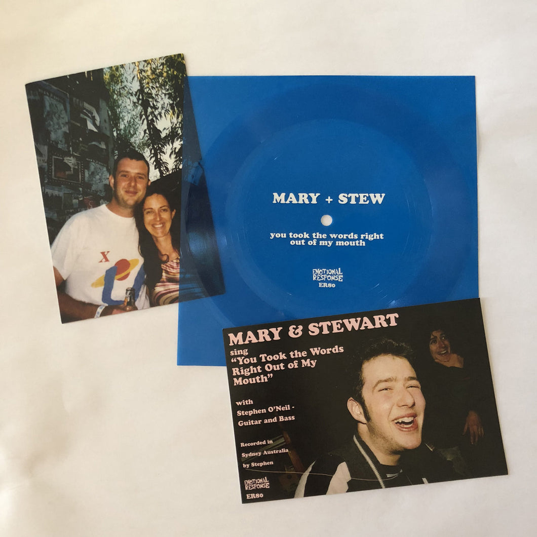 Mary + Stew - You Took The Words Right Out Of My Mouth flexi