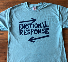 Load image into Gallery viewer, Emotional Response Blue on Blue T-Shirt