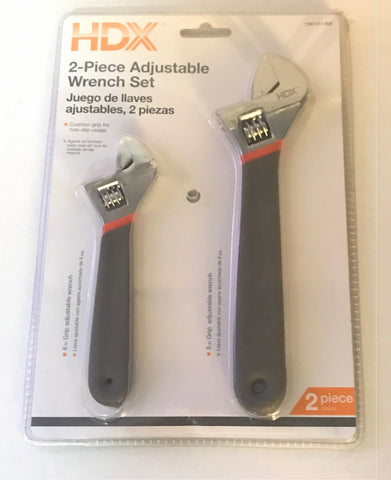 HDX 2 Piece Adjustable Wrench Set (2-Piece) - Cushion Grip - Deal Changer