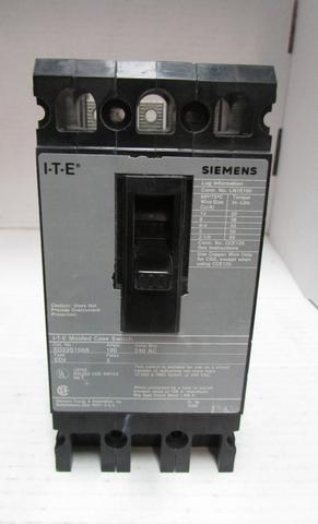 Siemens Molded Case Circuit Breaker 100A 3 Pole 240V - Deal Changer