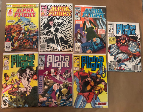 Alpha Flight Vintage Comic Book Collection - #1 3 7 51-53 65 Bronze Age Lot - Deal Changer