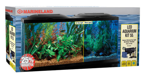 Marineland Bio-Wheel 55 Gallon Kit LED - Natural Shimmering Light - Deal Changer