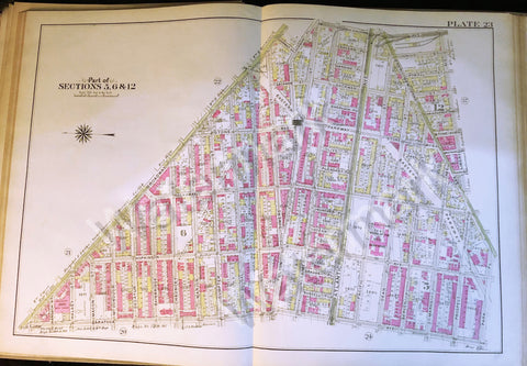 Brooklyn Original Map 1908 Eastern Parkway Boardway Atlantic Broadway Fulton ++ - Deal Changer