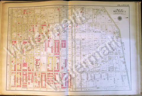 Map of Brooklyn Rare 1908 East New York Utica Eastern Parkway Albany Prospect ++ - Deal Changer