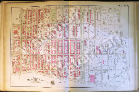 Map of Brooklyn Rare 1908 Antique Nostrand New York Atlantic Eastern Pkwy Park++ - Deal Changer