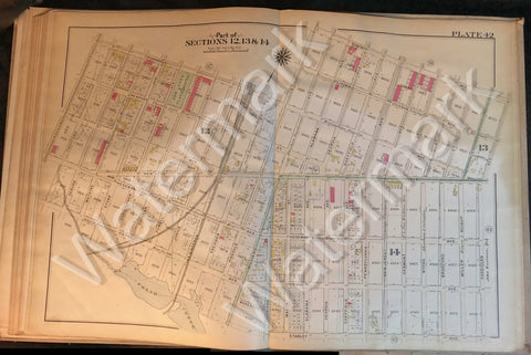 Brooklyn Map 1908 Vintage Pennsylvania Van Sinderen Hegeman New Lots Rockaway ++ - Deal Changer