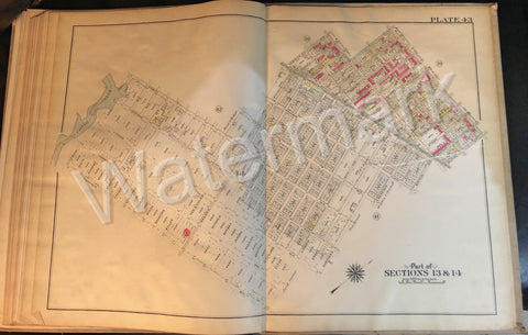 Brooklyn Antique Map 1908 New Lots Ave Hendrix Fresh Creek Livonia Standley Ave+ - Deal Changer