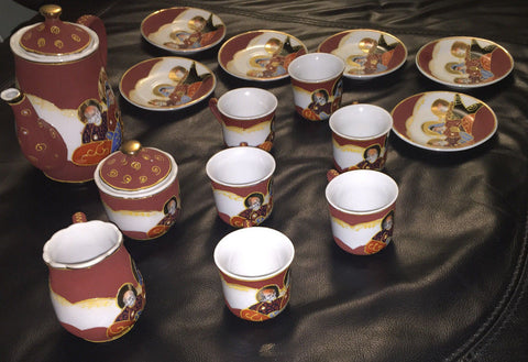 Satsuma Japanese Porcelain 15 Piece Hand Painted Tea Set - Emblem LD 7 - Deal Changer