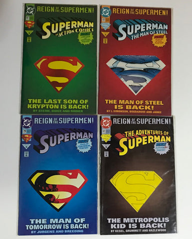 Reign of the Supermen: Die Cut Lot of 4 Comic Book Collection - Deal Changer
