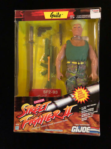 "Street Fighter 2 Action Figure 12"" - Guile (Rare) Capcom SF2-93 Sonic Boom Blaster - Deal Changer"