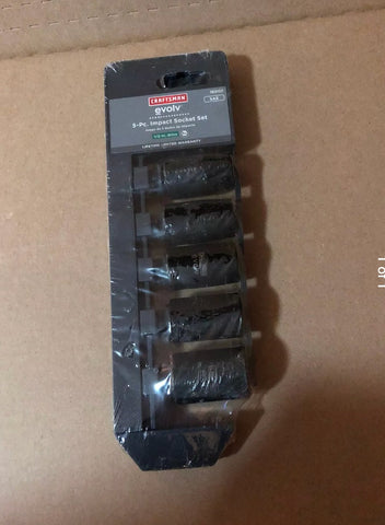"Craftsman Evolv 5pc Impact Socket Set 1/2"" Drive Size 7/16-11/16 - Deal Changer"