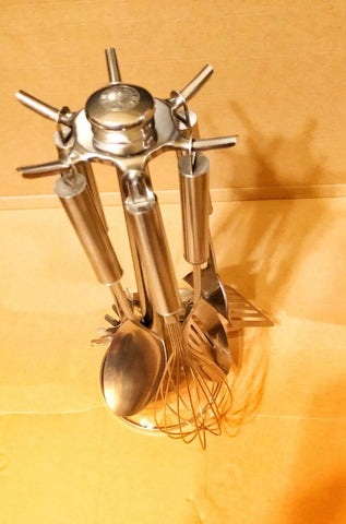 Tools of the Trade Basics - 5 Piece Kitchen Utensils Set w/Stand - New Open Box - Deal Changer