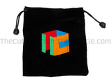 Cubicle Embroidered Bag (Size 7) - Black
