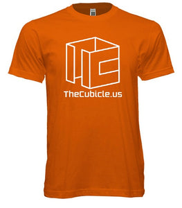 Cubicle Wireframe T-Shirt (Orange)
