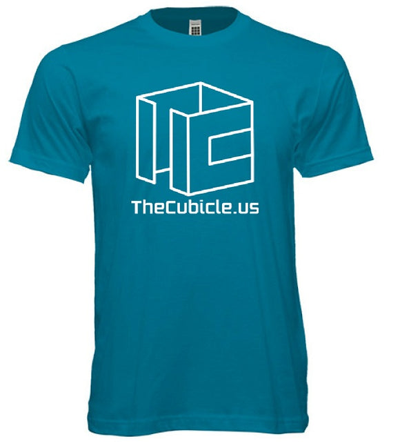 Cubicle Wireframe T-Shirt (Teal)