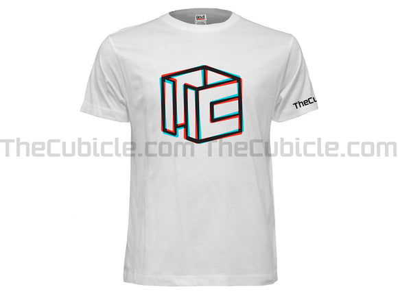 Cubicle Wireframe RGB-Split T-Shirt (2019)