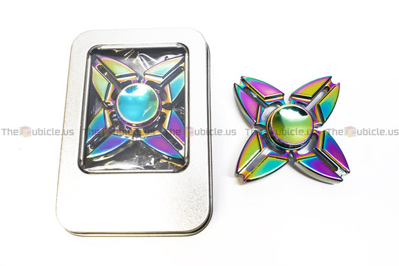 Fidget Quad-Spinner I (Rainbow)