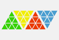 MoYu Magnetic Pyraminx Sticker Set