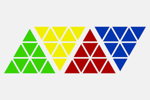 X-Man Bell Magnetic Pyraminx Sticker Set