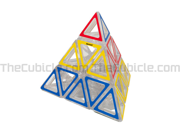 Meffert's Hollow Sticker Pyraminx - Transparent