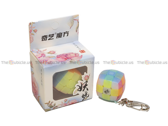 QiYi Mini Pillowed 3x3 Keychain Cube - Jelly