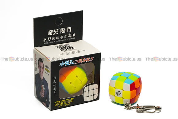 QiYi Mini Pillowed 3x3 Keychain Cube