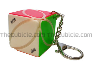 QiYi Ivy Keychain Cube - Stickerless (Bright)