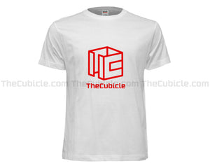 Cubicle Wireframe T-Shirt (White/Red) (2019)