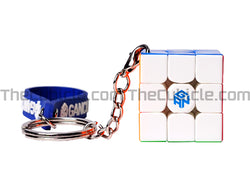 GAN330 Keychain Cube - Stickerless (Bright)