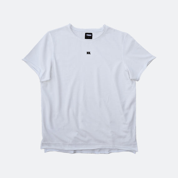 XX French Terry Cutoff Crew - Washed White