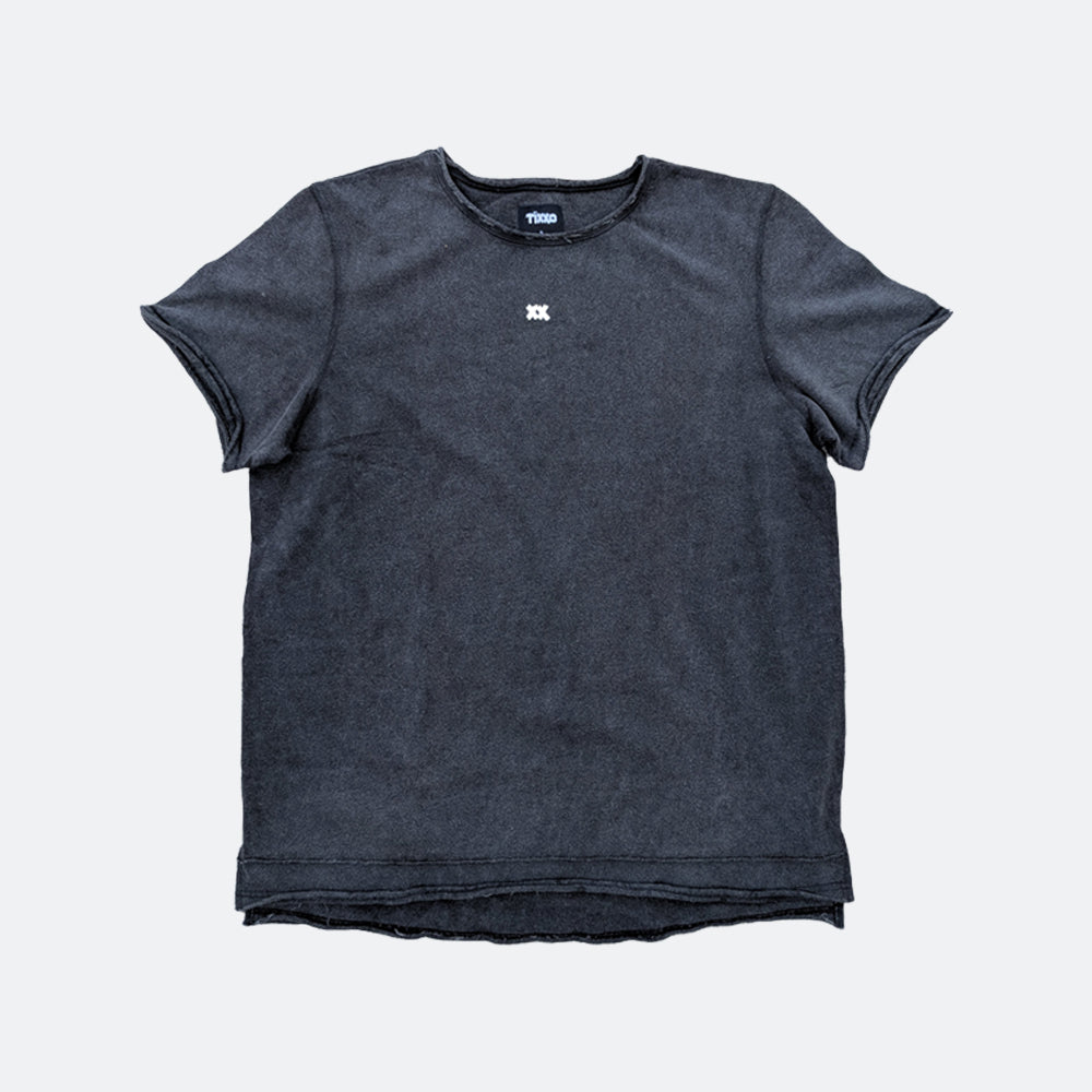 XX French Terry Cutoff Crew - Washed Black