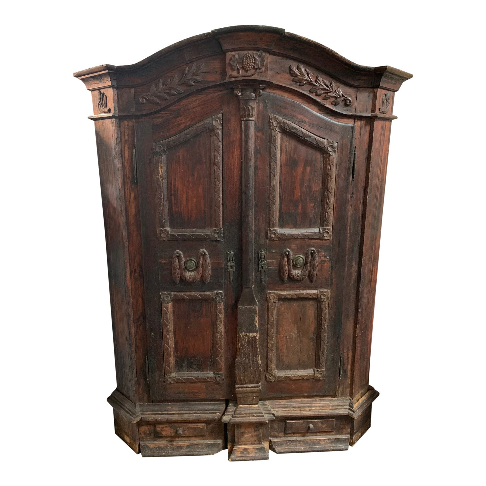 16th Century Traditional Carved Walnut Cabinet