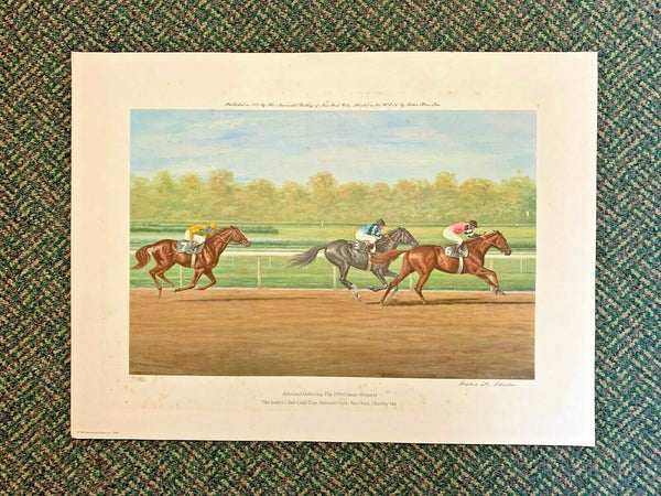 "Richard Reeves Original Lithograph ""Affirmed Defeating the 1979 Classic Winners"""