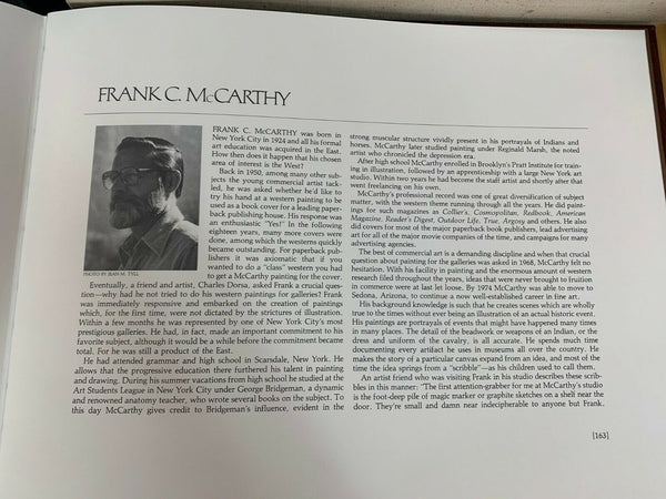 "Limited Edition ""The Old West"" Frank C. McCarthy Book"