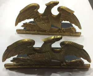 American Eagle Brass Bookends 1952