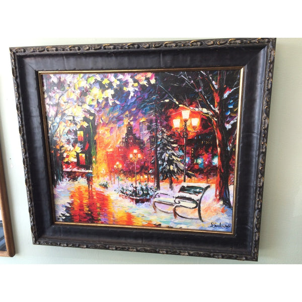 "Daniel Wall Giclee "" A Romantic Chilly Night"""
