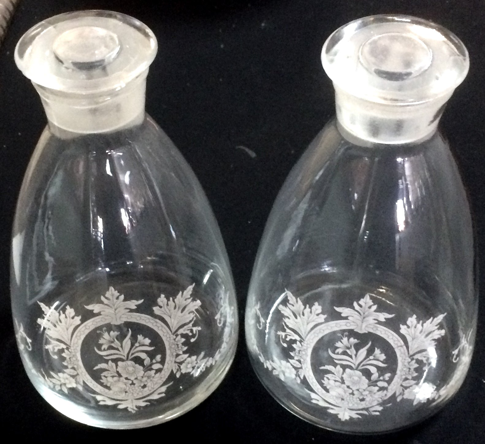 Pair of Chemist Bottles